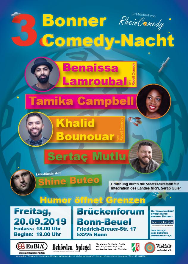 Plakat für die Bonner 3. Comedy Nacht