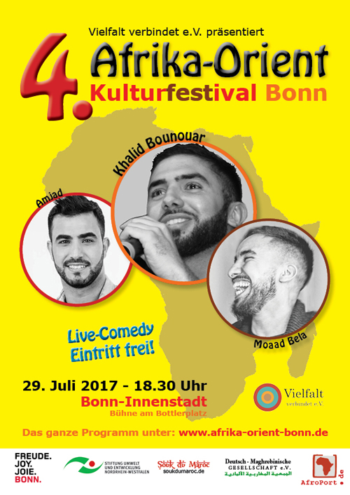 Plakat für das 4. Afrika-Orient Kulturfestival Bonn